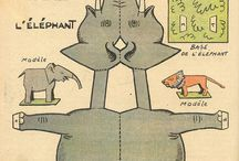 Paper doll animals and furniture
