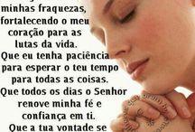 orações. ..