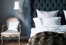 Bedrooms / Designer bedrooms, house beautiful, traditional homes, better homes and gardens, romantic, contemporary, rustic, modern, vintage, parisian, french, saturated color, blue, gold, velvet, ethnic, fabrics, bedding, furniture
