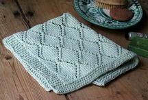 strikket håndklæde