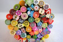 polymer clay / Some really clever polymer clay jewellery out there but all I really want to do is make cute things... and maybe the odd psychedelic bead. :) / by Kate Cloud