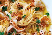 Garlic Prawns Pasta