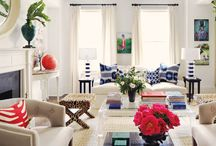 Navy Blue and White for the home