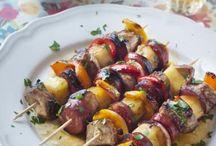 brochettes poulet chirizo