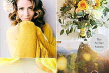 Yellow/ Lemon/ Gold/ Sunflower Weddings / Yellow Palettes/ Various Yellow Color Combinations   #YellowWeddingColors