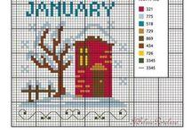cross stitch calendar