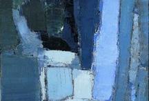 Bleu en peinture