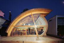 Modern wooden houses
