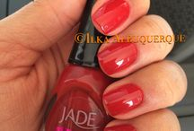 Red nail polishes - swatches / Esmaltes vermelhos