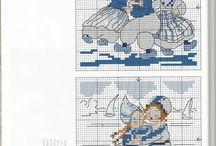 Blauw/blue patronen