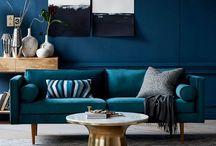 Nlue topaz sofa