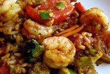 Cajun shrimps rice
