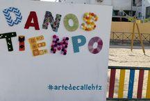 Photocall lanero / Photocall realizado por el grupo de tejedora de la Asociación Danos Tiempo para su VII Fiesta de Arte de Calle