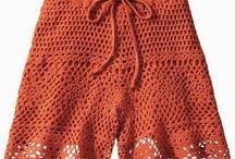 Shorts e calças em crochê