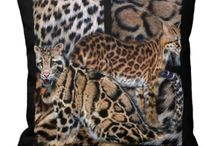 Animal Art Desiener Pillows / A collection of beautiful and unique animal art throw pillows from the Spirit Of The Wild series of art by Carol Cavalaris.
