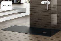 Hidrobox design douchevloeren / Hoogwaardige douchevloeren van eigentijdse materialen: - op maat gemaakt - Marmek-douchevloeren in iedere RAL-kleur leverbaar - veilig dankzij antislip - bieden minder kans op lekkage - sluiten perfect aan op de vloer (geen opstap) - kennen geen voegen en naden, daardoor eenvoudig in onderhoud en hygiënisch