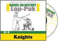 (K-2) LAP-PAK: Knights / A lap book geared toward Kindergarten through the 2nd grade! The Middle Ages was an era of kings, queens, castles, and of course… knights! But what did it take to become a knight? …And what did they do? Discover the world of knights, from their beginnings as a page and squire to the knighting ceremony! Learn about Crusaders, weapons of warfare, the Code of Chivalry, and much more!