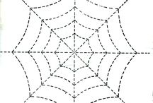 templates for spider webs