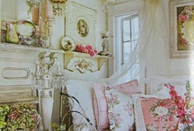 ~ Shabby Chic Love ~ / ~ There's nothing more beautiful to me than a gorgeous pink rose, or vintage time worn treasures with a romantic feel ~ / by Misty Dennie