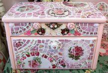Broken china mosaic furniture