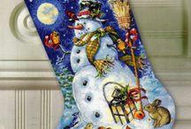 křížek vánoční ponožka