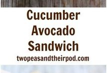 Cucumber Avacado Sandwich