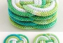 loom knitted coasters