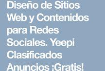 Clasificados / En Clasificados encontrará información comercial, industrial y profesional de los afiliados de Yeepi Clasificados avisos con texto, fotos, mapas y redes sociales.  El anunciar en nuestra plataforma es totalmente ¡Gratis!