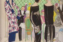 Fashion sketches vintage / Sketches of fashion ,art deco,vintage / by Filipe Cruz