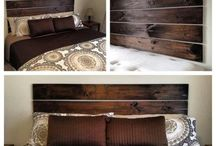 Vanhasta puusta sängynpääty