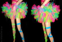 Cascade Tutus / Our cascade style tutus are really poofy and funky!  All of our tutus can be made in any variety of colours, size and length  www.tutufactory.co.uk