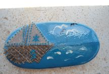 handpainted stones, taş boyama / painted stones, stones painted