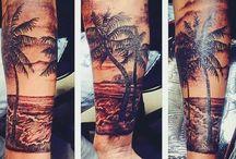 Ship chest tattoo