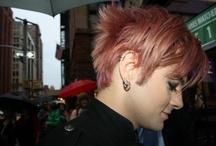 Eyeliner and earrings