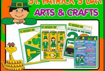 ST. PATRICK'S FUN PACK / - 17 worksheets (colouring, crosswords, matching, mazes, 1 picture dictionary, 1 poster, dot to dots, 1 sudoku, 1 wordsearch and 1 unscrambling vocabulary exercise) - Arts & Crafts activities ( 1 St. Patrick's Day banner to decorate your classroom, bookmarks, 2 mini books, 3 knob door hangers and 1 memory game); - 1 Powerpoint Presentation + Game - 3 Board Games (board, die, tokens and directions); - 1 set of flashcards; - 1 bingo set; - 1 set of dominoes.
