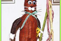 Pletení z papíru-Velikonoce
