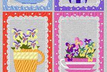 Spring Prim Teacups and Sayings Collection / http://cindysembroiderydesigns.com/Spring-Prim-Teacups.html