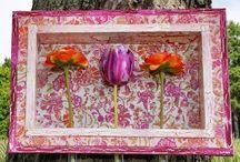 """COLOREL-Rahmen mit Blumenvasen """"Floral weiß"""""""
