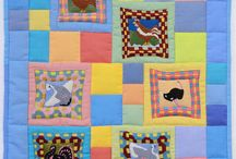 Baby quilts / quilt, quilting, patchwork, sewing, fabrics, quilt patterns, studio, how to, DIY, art, textile, fiber, color, inspiration, technique, machine quilting, hand quilting, string quilt, log cabin, appliqué, reverse appliqué, piecing, binding, instructions, quick, easy, baby, wall quilts, ideas