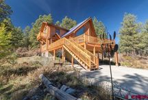 99 Tiffany Place, Pagosa Springs, CO 81147 / Listing Broker - Tommy Nell Colorado log home in a quiet, secluded setting of almost 5 acres, with views of Square Top and Eastern Range. Five acres fenced for your pets with direct National Forest access for total recreation.