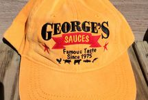 George's BBQ Sauce Stuff! / Hats.... shirts... aprons... and more!  Dress the part when you are with George!