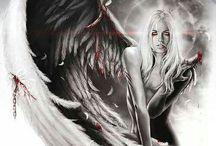 woman Angel tattoos