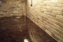 Backsplashes and Tile / Kitchen and bath tile decor / by Rosemary