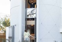 Repurposed Architecture / Salvage, unique architecture, smart architecture, silo, old into new,