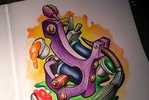 Tattoo machine desenho