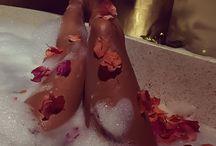 fotos em banheira