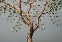 Gemstone bonsai tree of life