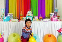 Fiesta de colores, celebración 2 años. Cumpleaños Exclusivos / Una fiesta de colores para el pequeño Santino.