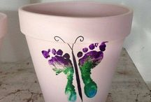 peinture pied pot en terre