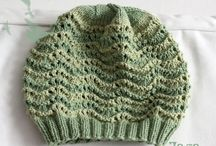 Knitting / knitted hats, knitted scarfs, knitted mittens